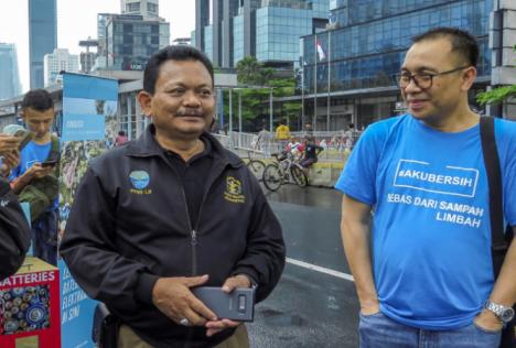 Acara oleh PT. ARAH ENVIRONMENTAL INDONESIA bekerja sama dengan gerakan #AKUBERSIH pada Car Free Day