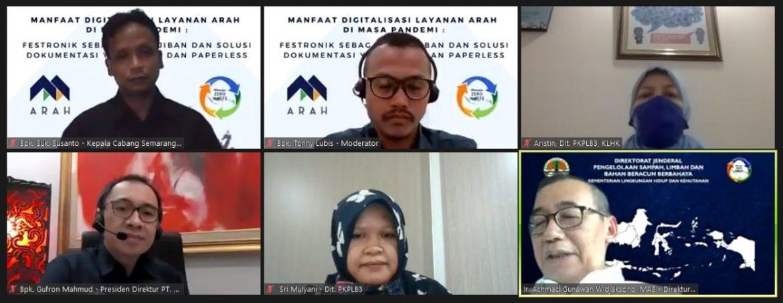 Webinar Sosialisasi Festronik oleh PT. Arah Environmental Indonesia